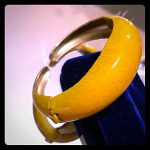 Vintage 60's Enamel Double Hinged Bangle Bracelet